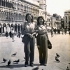 Kim Kendall (l.) with friend, Venice