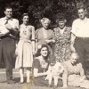 Percival Hubert Leach Sr. (far right, standing) and family, Great Meadows, New Jersey, c. 1942