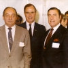 Louis Gualandi, Vice-President George H. W. Bush, Percy Leach, Waterloo Village, New Jersey, c. 1985