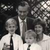 Stewart and Elaine Barker with their sons, David and Richard, Guildford, Surrey, UK, c. 1968