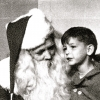 Billy McMaster and Santa, Los Angeles, California