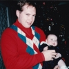 Michael LaMontagne with his son, Michael, Barr, I